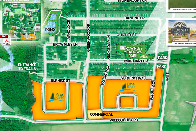 Pine River Angus New Home Community Map and New Homeowner Amenities