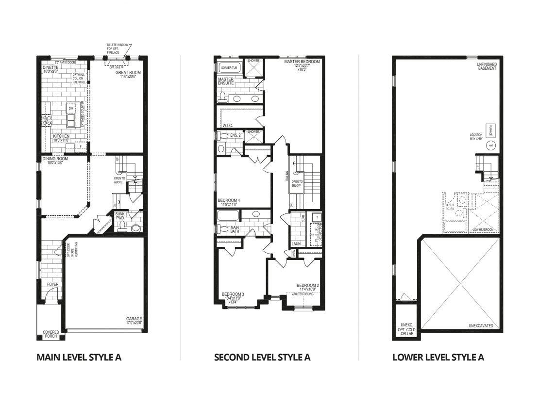 The Mahogany – Style A  -  Floor Plan