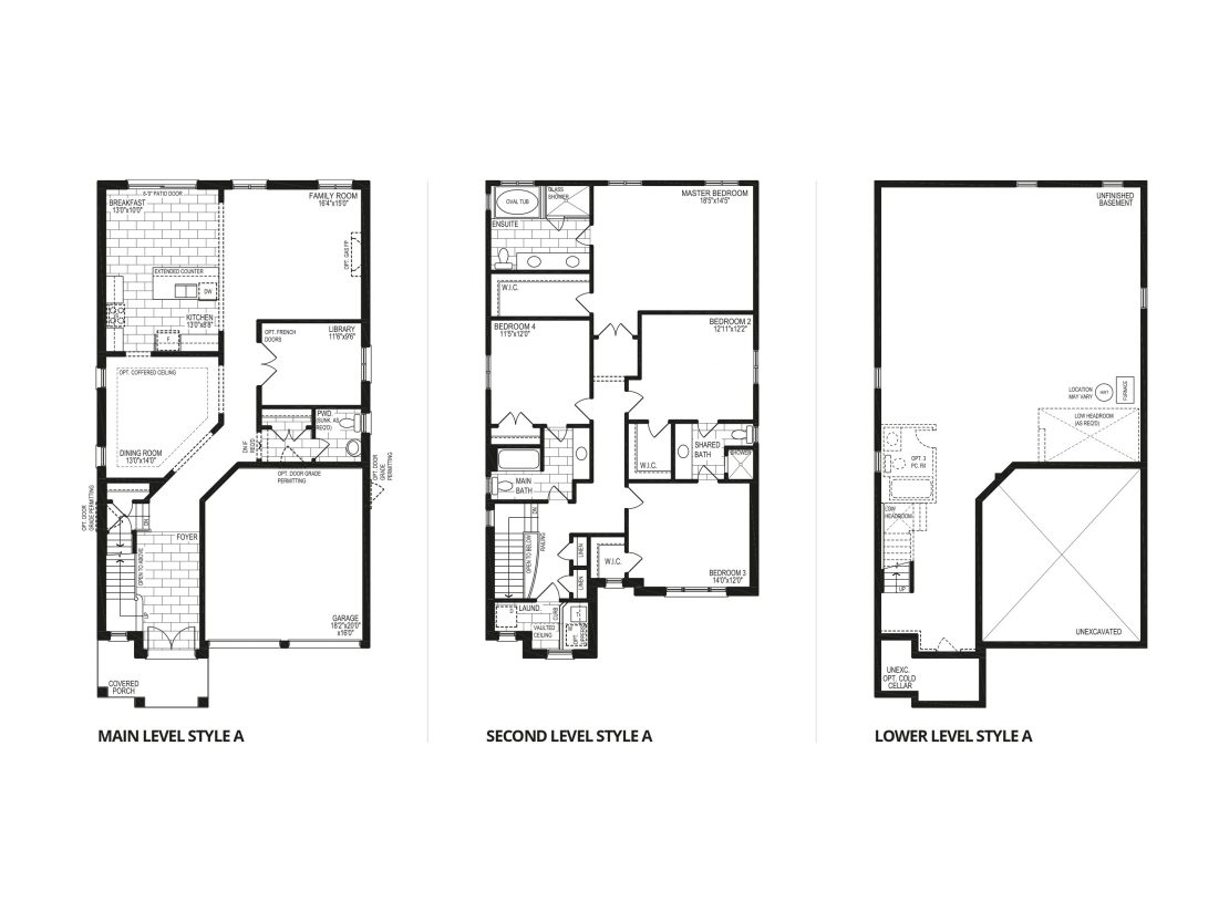 The Winterberry – Style A  -  Floor Plan