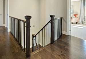 Oak Railings with Iron Pickets